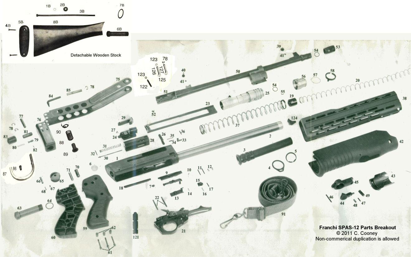 Franchi SPAS12 Parts